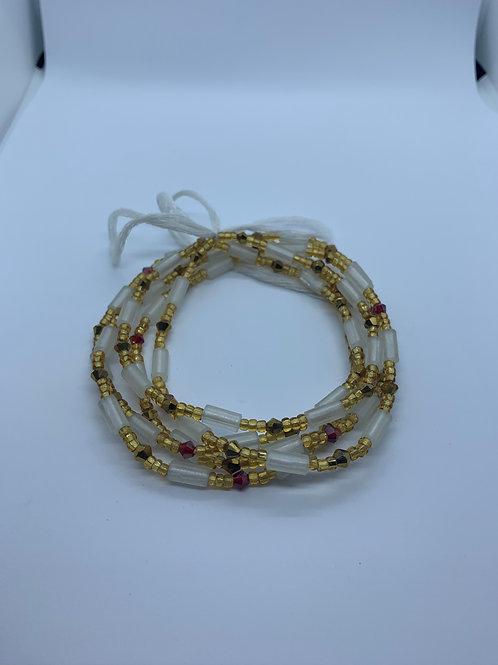 Glow-in-the-Dark Waist Beads (Golden)
