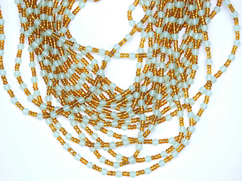 Glow-in-the-Dark Waist Beads (Gold)