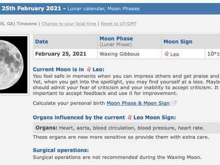 Thursday, February 25, 2021