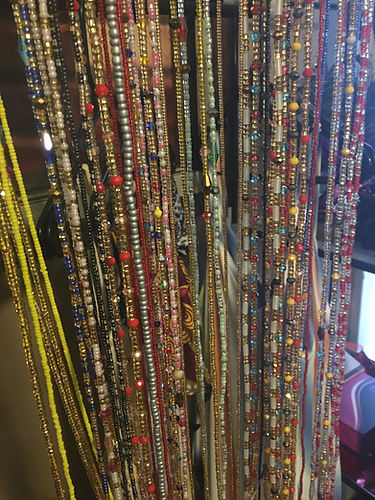 Waist beads come directly from Ghana!