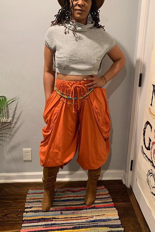 Bohemian Bonet' Convertible Pants (Orange)