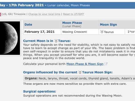 Wednesday, February 17, 2021