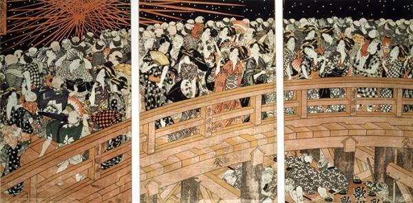 Fireworks at Ryogoku Bridge