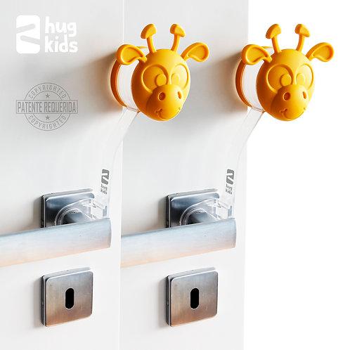 Kit com 2 Protetores de Porta - Gira Miga Amarela