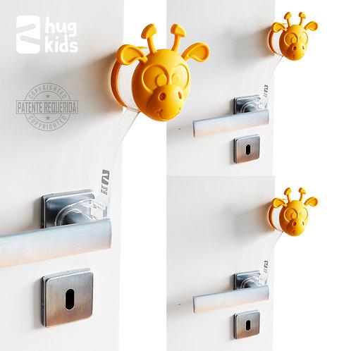 Kit com 3 Protetores de Porta - Gira Miga Amarela