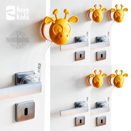 Kit com 5 Protetores de Porta - Gira Miga Amarela
