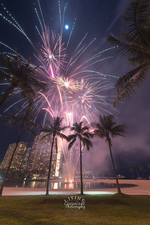 Fireworks over Waikiki