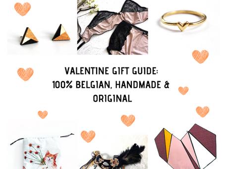 Valentijn cadeau lijst: Handgemaakt en 100% Belgisch