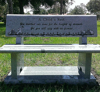 Palm Cemetery Bench Winter Park