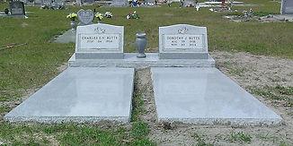 Slant Marker Ledger Gray Granite Monumen
