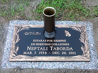 Osceola Memory Gardens Bronze Memorial Headstone