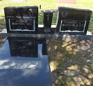 Double Wing African Jet Black Monument Greenwood Cemetery