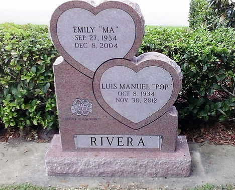 Woodlawn Double Heart Headstone North American Pink