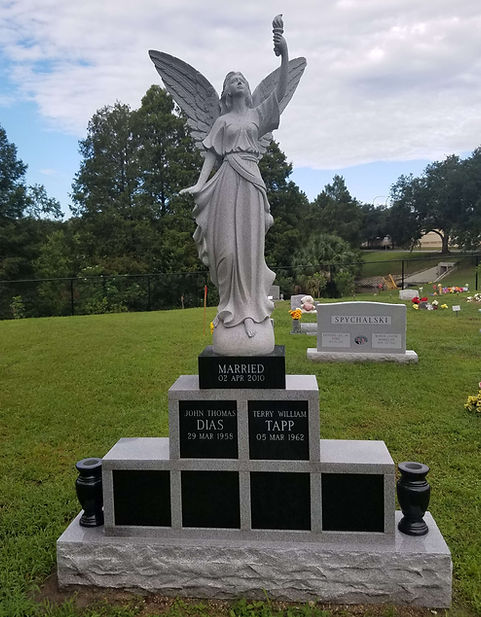 Angel of Light Custom Memorial Greenwood Cemetery