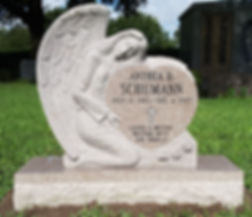 Seashell Pink Angel Over Heart Palm Cemetery