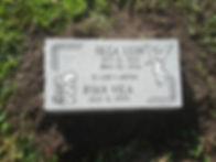 Flat Granite Marker Two Name Layout