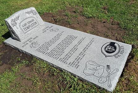 Ledger Slab Gray Granite Greenwood Cemetery