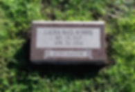 Greenwood Cemetery Missouri Red Bevel Marker