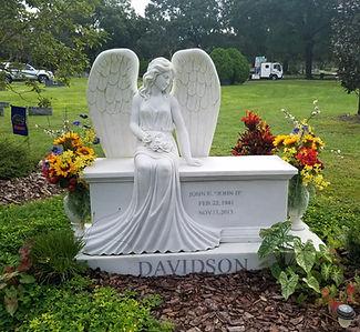 Davidson Angel Cherokee Marble Greenwood Cemetery