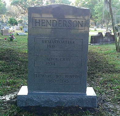 Dark Blue Upright Monument Cremation Memorial Greenwood Cemetery