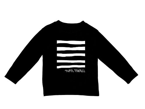 Non Merci Black Long SleeveTee from WEXBABY