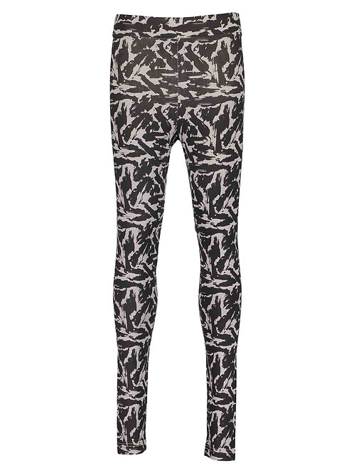 Blue Seven Printed Leggings in Grey / Black.