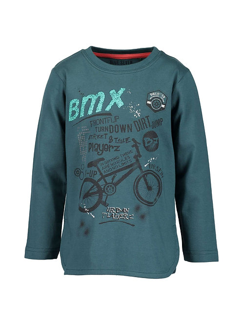 Blue Seven BMX Tee in Bottle Green