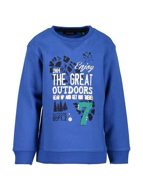 Blue Seven Great Outdoors Sweatshirt in Ocean