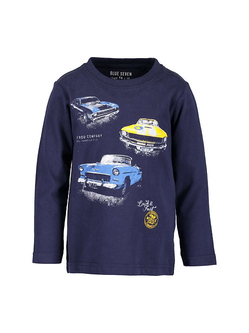 Blue Seven Cars Tee