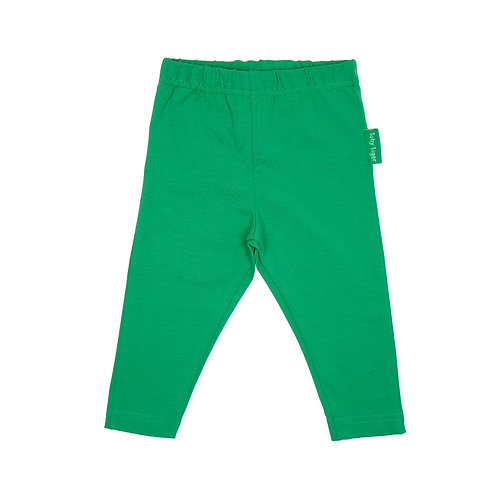 Toby Tiger Organic Cotton Green Leggings