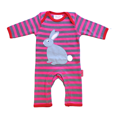 Striped Bunny Baby Grow.