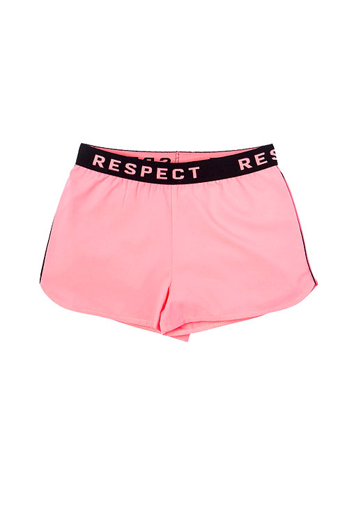 'RESPECT' Shorts in Pink