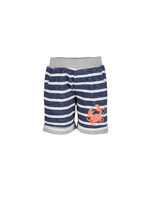 Blue Seven Mini Kids Loop Back Striped Crabby Island Shorts