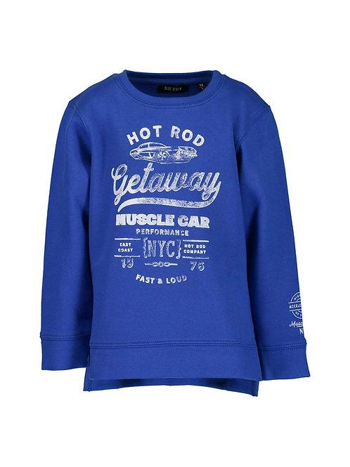 Blue Seven Hot Rod Sweatshirt in Ocean.