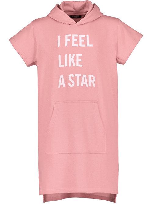 Blue Seven Short Sleeve 'I Feel like a Star' Hooded Knit Dress
