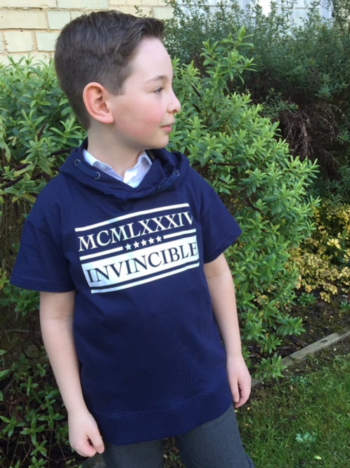 Blue Seven Invincible Hooded Tee in Navy