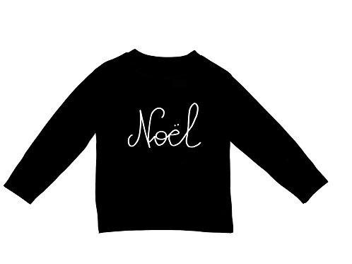 Black Long Sleeve Noel Tee.
