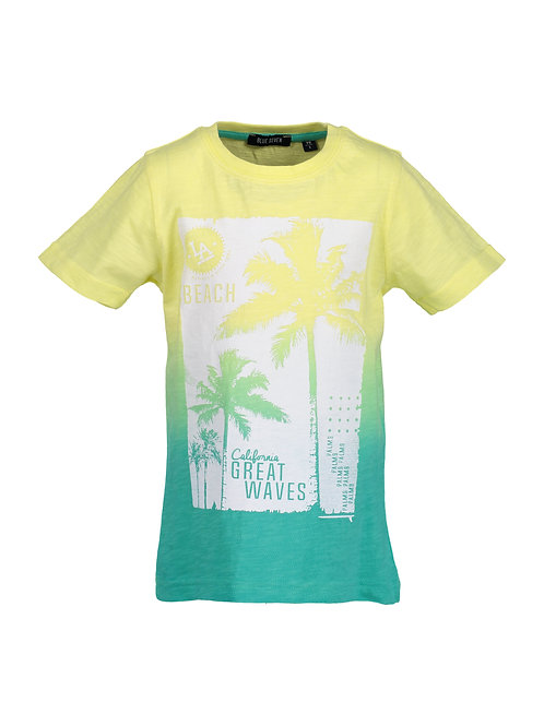 Blue Seven Yellow Great Waves Tee
