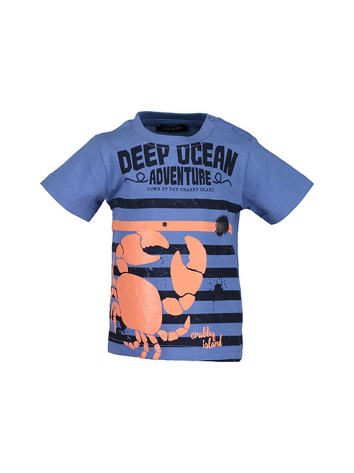 Blue Seven Mini Kids Striped Blue Deep Ocean Tee
