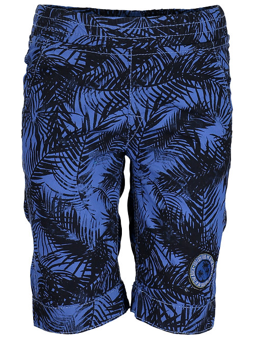 Blue Seven Navy Leaf Print Shorts