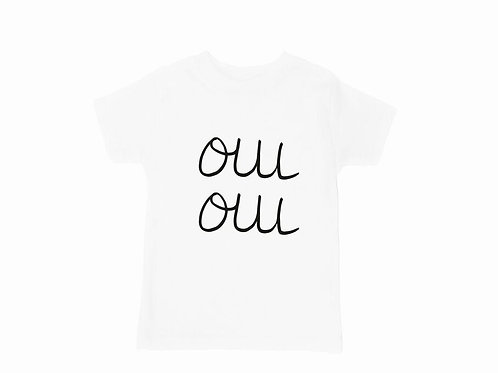 Super Cool 'Oui Oui' White Short Sleeve Tee