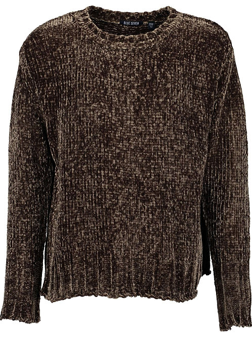Chenille Jumper in Dark Olive