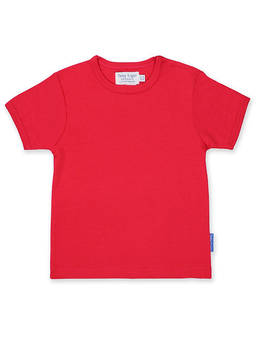 Organic Cotton Red Tee