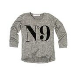 No9 Relaxed Tee in Grey.