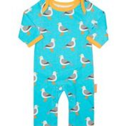 Toby Tiger Super Cool Organic Seagul Playsuit