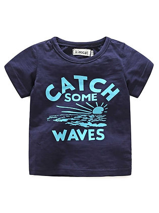 Catch Some Waves Tee - Navy