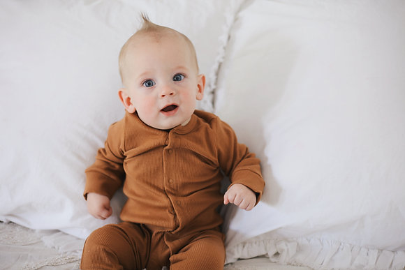 Henry Footed Jammies - Mustard