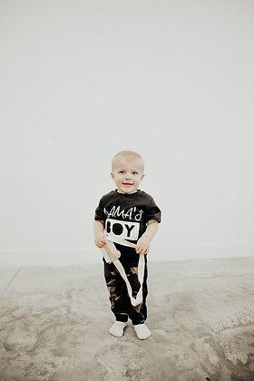 Mama's Boy Set in Black & Camo