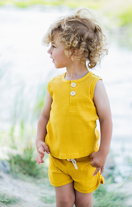 Teddy 2-Piece Tank Set - Yellow