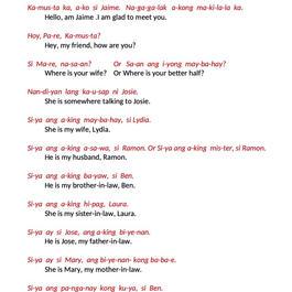 TAGALOG CLASS 1 - SIMPLE CONVERSATION 1